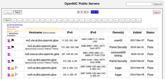servers.opennic.org